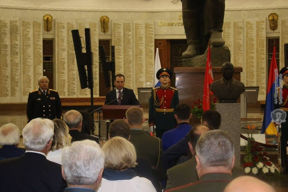 ՀՀ ՊՆ - Bust of Hovhannes Baghramyan erected at Great